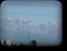 立山連峰の雪化粧